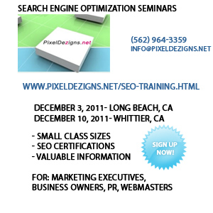 SEO training seminars in Long Beach and Whittier| Los Angeles, Orange County, California